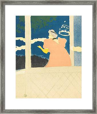 At The Ambassadeurs Framed Print by Toulouse-Lautrec