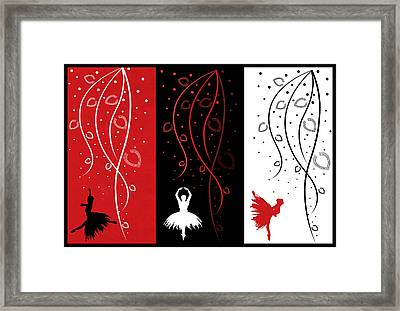 At The Ballet Triptych 1 Framed Print by Angelina Vick