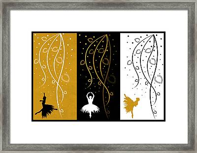 At The Ballet Triptych 4 Framed Print by Angelina Vick