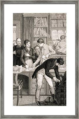 At The Bank, C.1800 Framed Print by English School