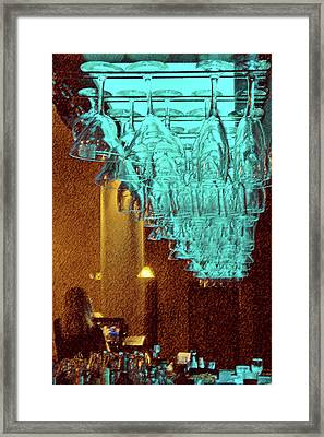 At The Bar Framed Print