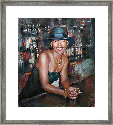 At The Bar Framed Print by Ylli Haruni