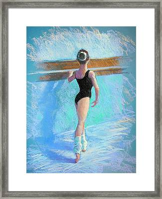 At The Barre Framed Print by Jackie Simmonds