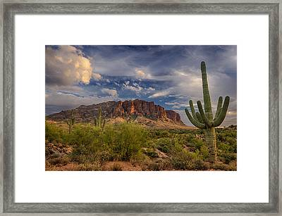 At The Base Of The Mountain Framed Print by Saija  Lehtonen