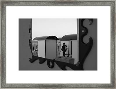 At The Beach - Monochrome Framed Print by Ulrich Kunst And Bettina Scheidulin
