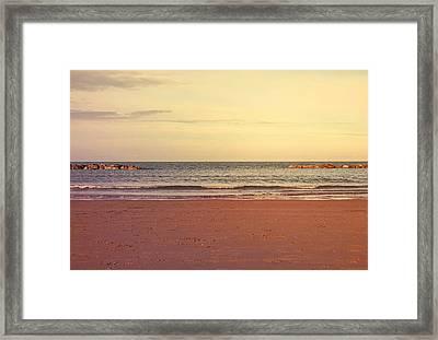 At The Beach Framed Print by Andrea Mazzocchetti