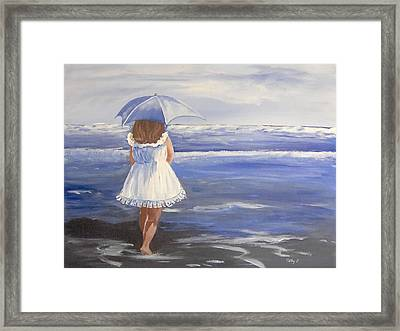 At The Beach Framed Print by Catherine Swerediuk