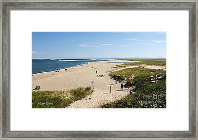 At The Beach In Chatham Cape Cod Massachusetts Framed Print