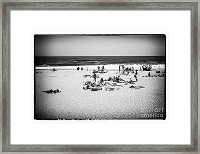 At The Beach Framed Print by John Rizzuto