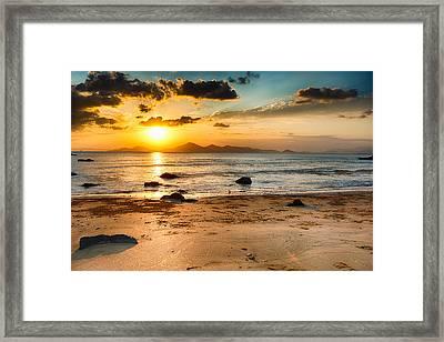 At The Beach Framed Print by Keith Homan