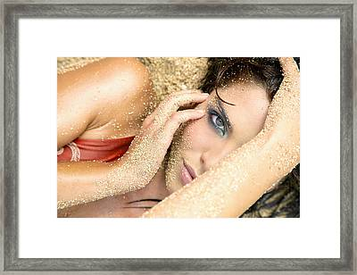 At The Beach Framed Print by Kicka Witte