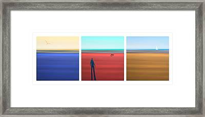At The Beach Framed Print