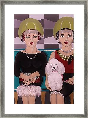 At The Beauty Salon Framed Print by Stephanie Cohen