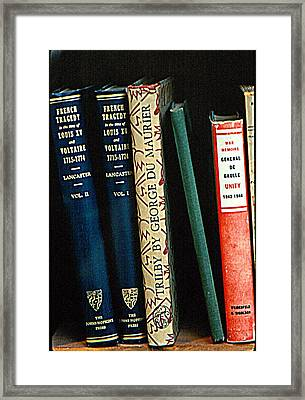 At The Bookstore Framed Print
