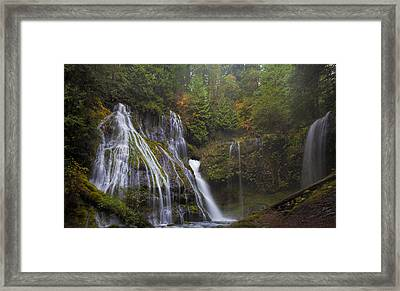 At The Bottom Of Panther Creek Falls Framed Print by David Gn