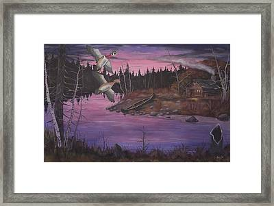 At The Cabin Framed Print by Rudolph Bajak