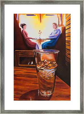 At The Cafe Framed Print