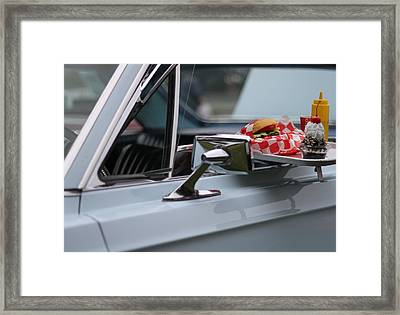 At The Carhop Framed Print by Dan Sproul