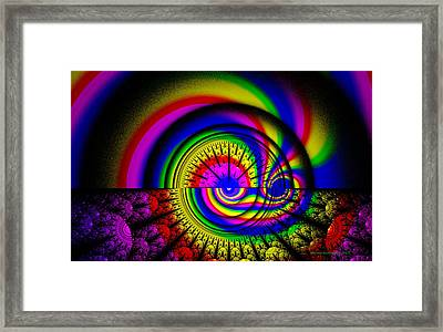At The Center Of The Rainbow Framed Print by Naomi Richmond