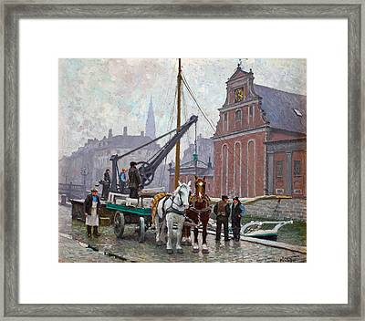 At The Church Of Holmen Framed Print