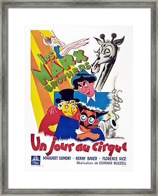 At The Circus, Aka Un Jour Au Cirque Framed Print