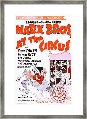 At The Circus, Marx Brothers L-r Harpo Framed Print