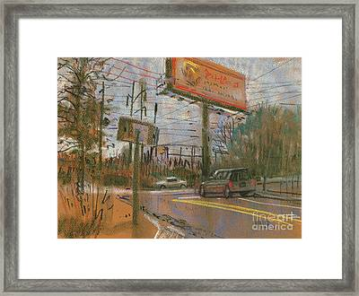 At The Corner Framed Print by Donald Maier