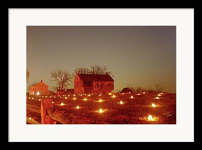 Bloody Cornfield Framed Prints