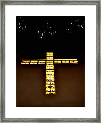 At The Cross Framed Print by Deena Stoddard