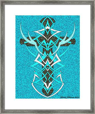 At The Cross Tile 2 Framed Print by Brian Johnson