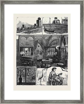 At The Crystal Palace Electrical Exhibition 1 Framed Print by Japanese School