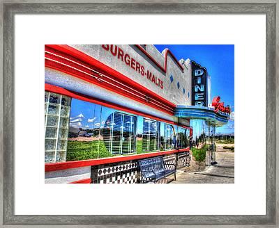 At The Diner 2 Framed Print