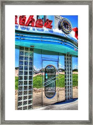 At The Diner 3 Framed Print