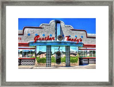 At The Diner 4 Framed Print