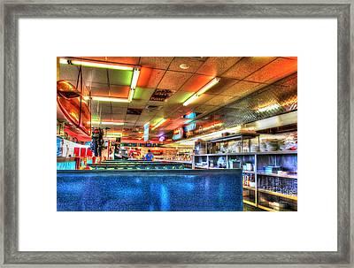 At The Diner 5 Framed Print