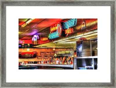 At The Diner 6 Framed Print