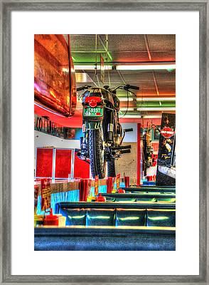 At The Diner 7 Framed Print