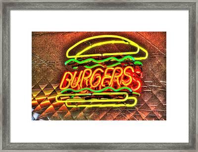 At The Diner 8 Framed Print