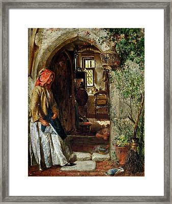 At The Doorway Framed Print by Celestial Images