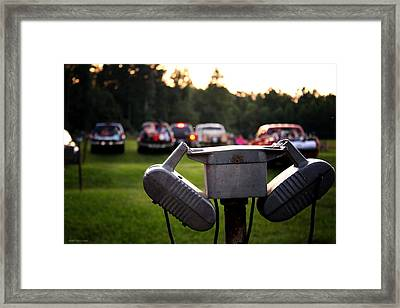 At The Drive-in - Before The Show Framed Print by Greg Simmons