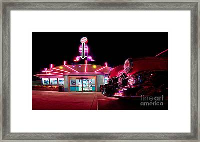 At The Drive-in Framed Print by Mark Miller