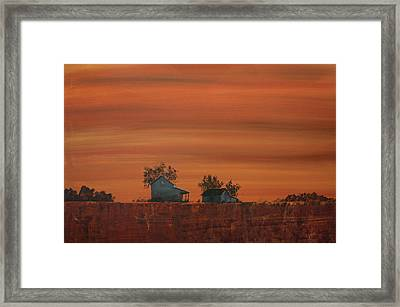 At The Edge Of The Day Framed Print by William Renzulli