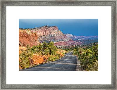 At The Edge Of The Storm Framed Print