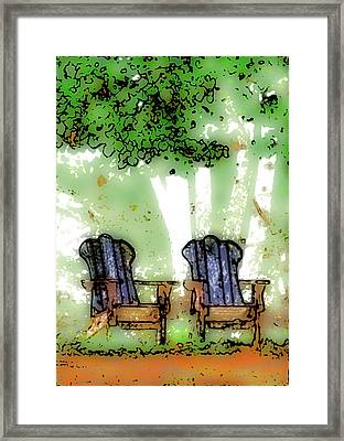 At The Edge Of The Woods Framed Print