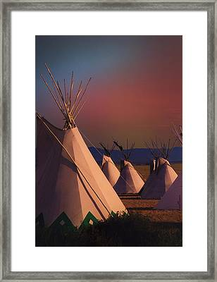 At The Encampment Framed Print