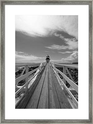 At The End Framed Print by Becca Brann