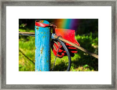 At The End Of A Rainbow Framed Print by Alexander Senin