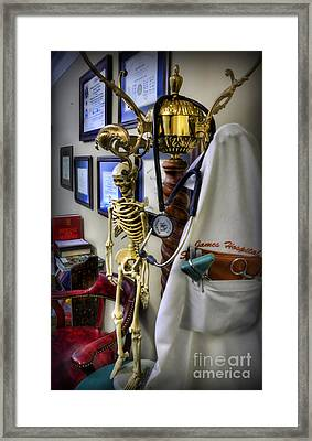 At The End Of The Day - Doctor  Framed Print by Lee Dos Santos