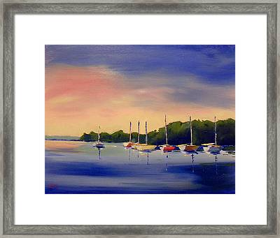 At The End Of The Day Framed Print