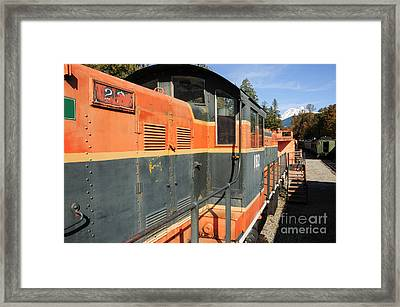 At The End Of The Railroad Framed Print by Malu Couttolenc